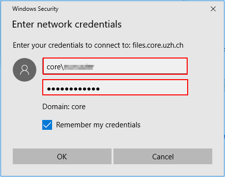 Map Network Drive Credentials